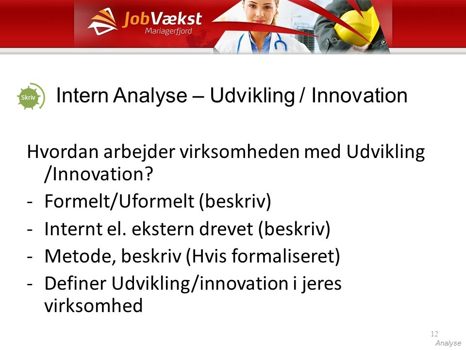 Intern Analyse – Udvikling / Innovation