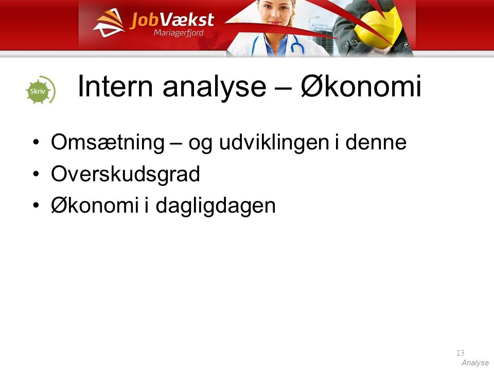 Intern analyse – Økonomi