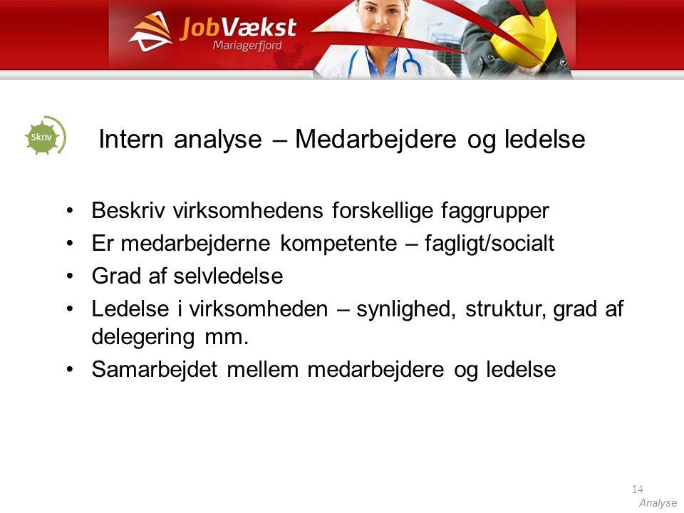 Intern analyse – Medarbejdere og ledelse