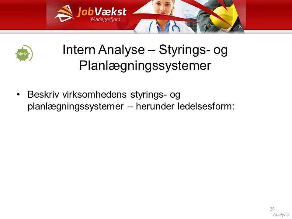 Intern Analyse – Styrings- og Planlægningssystemer