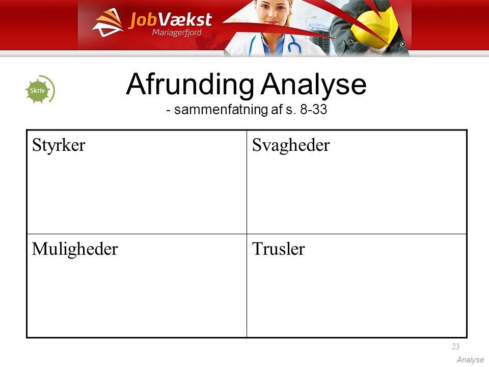 Afrunding Analyse - sammenfatning af s. 8-33