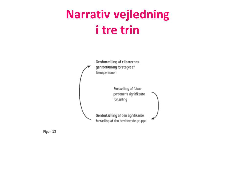 Narrativ vejledning i tre trin