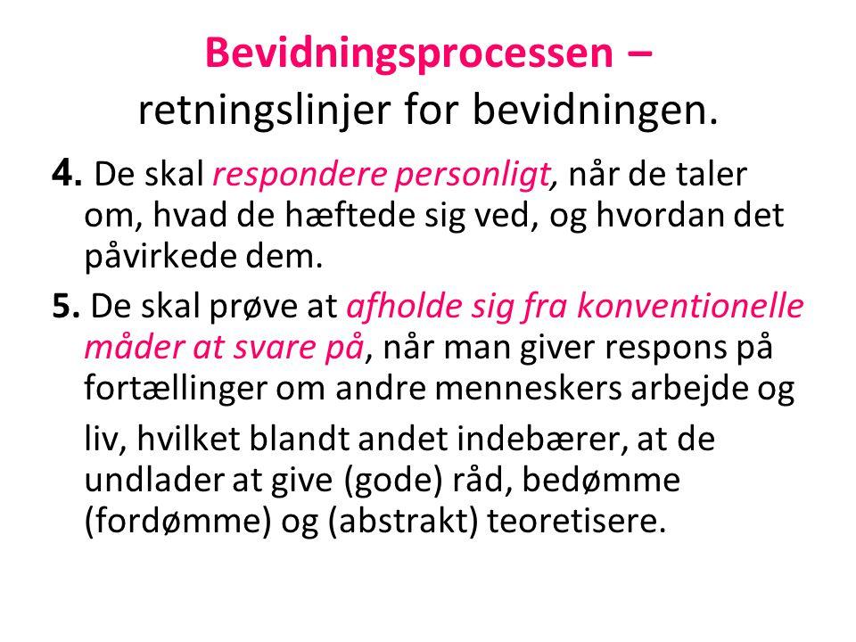 Bevidningsprocessen – retningslinjer for bevidningen.