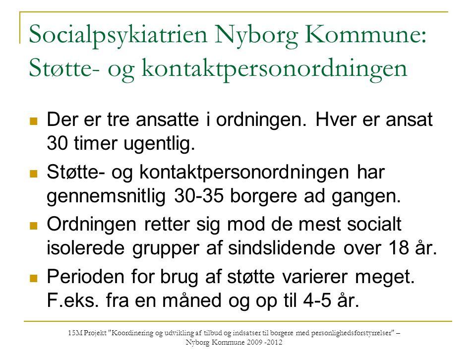 Socialpsykiatrien Nyborg Kommune: Støtte- og kontaktpersonordningen