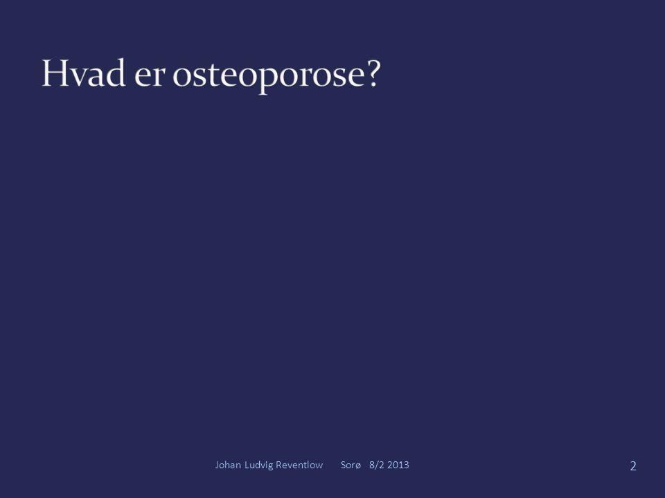Hvad er osteoporose Johan Ludvig Reventlow Sorø 8/2 2013