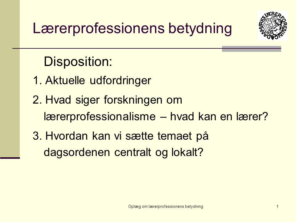 Lærerprofessionens betydning