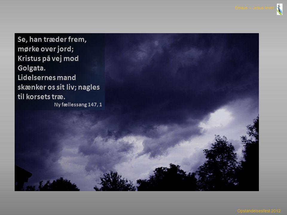 Se, han træder frem, mørke over jord; Kristus på vej mod Golgata.
