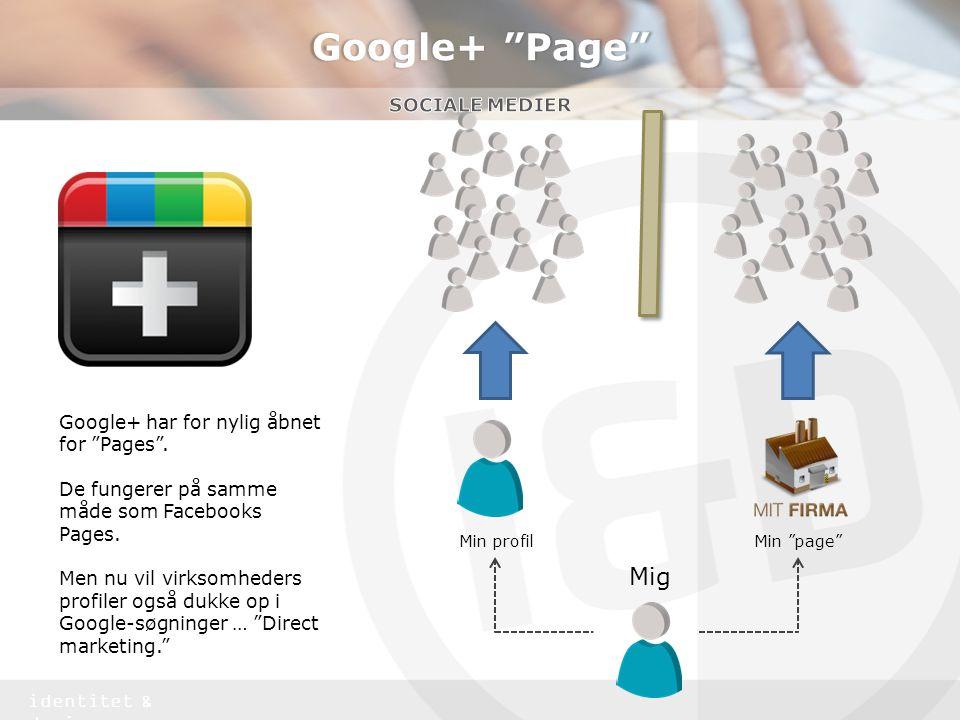 Google+ Page Mig Sociale medier