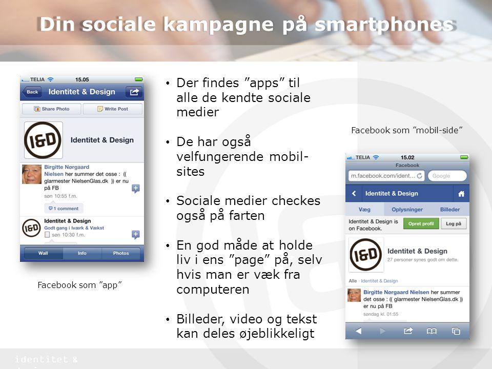 Din sociale kampagne på smartphones