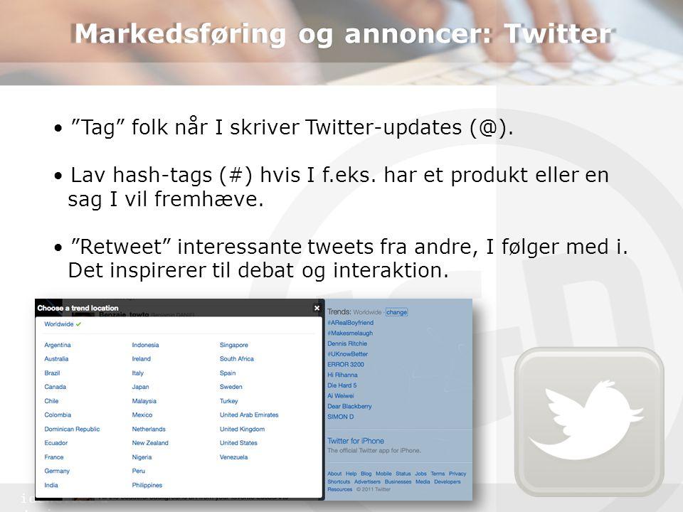 Markedsføring og annoncer: Twitter