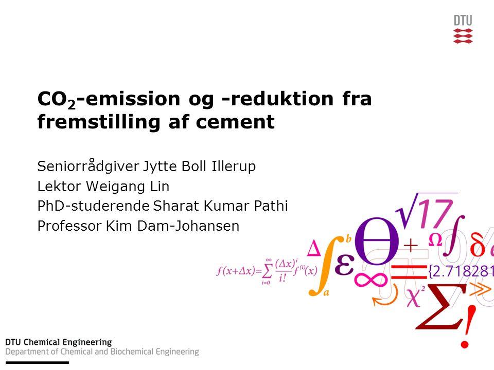 CO2-emission og -reduktion fra fremstilling af cement