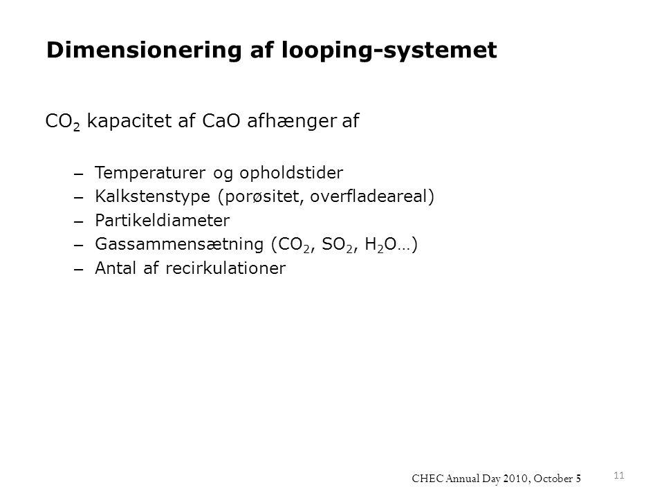 Dimensionering af looping-systemet
