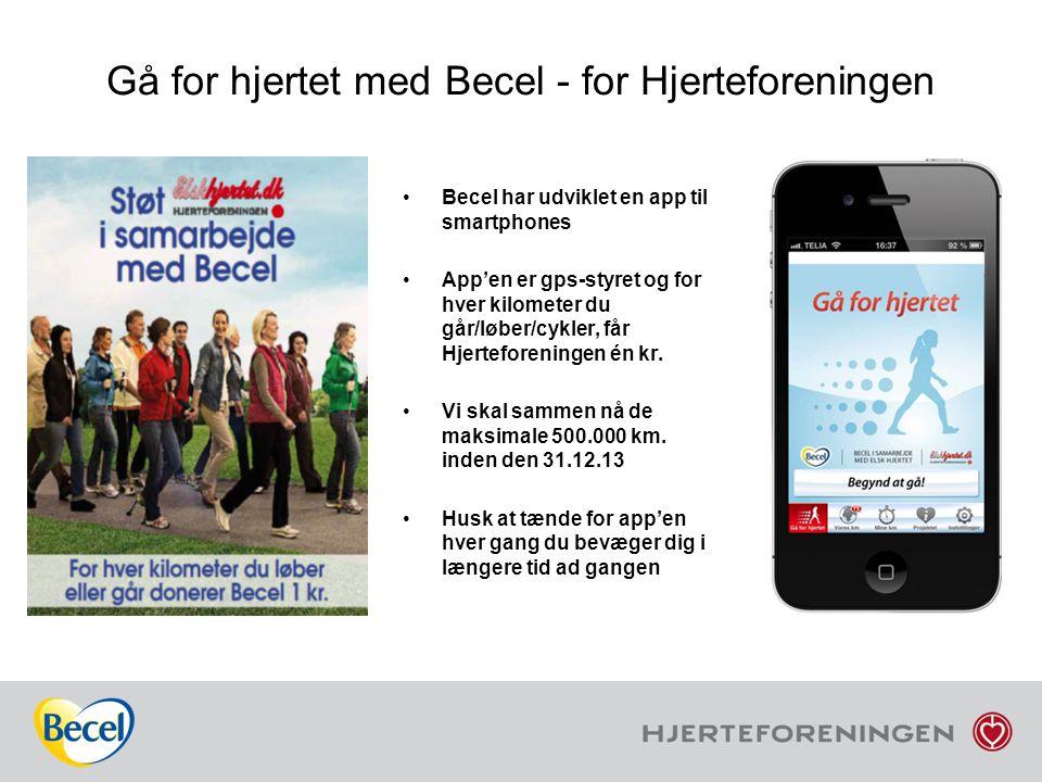Gå for hjertet med Becel - for Hjerteforeningen