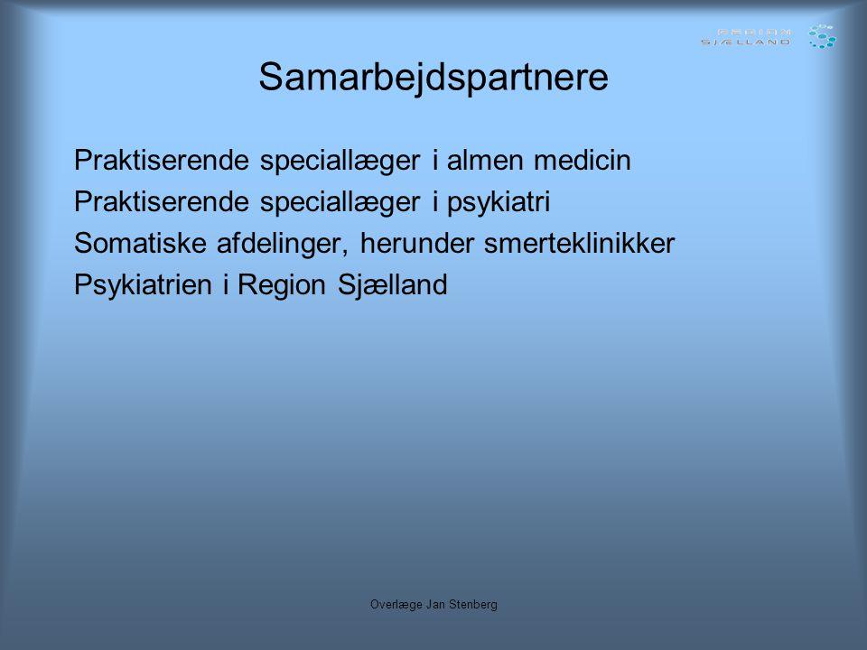 Samarbejdspartnere Praktiserende speciallæger i almen medicin