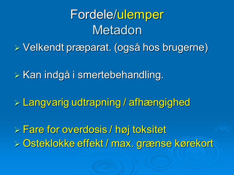 Fordele/ulemper Metadon