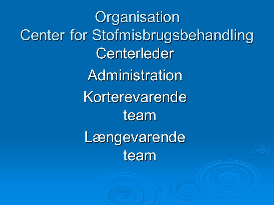 Organisation Center for Stofmisbrugsbehandling