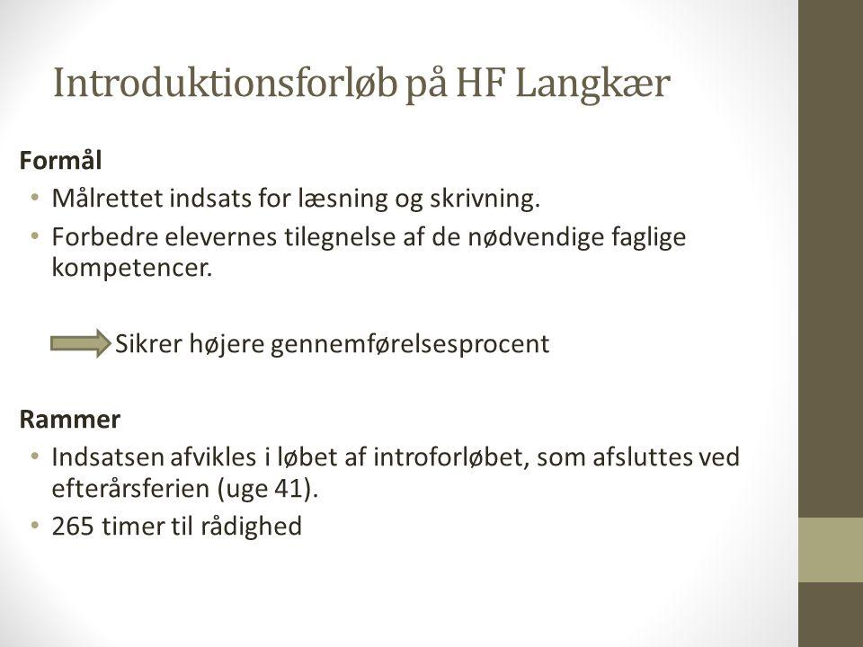 Introduktionsforløb på HF Langkær
