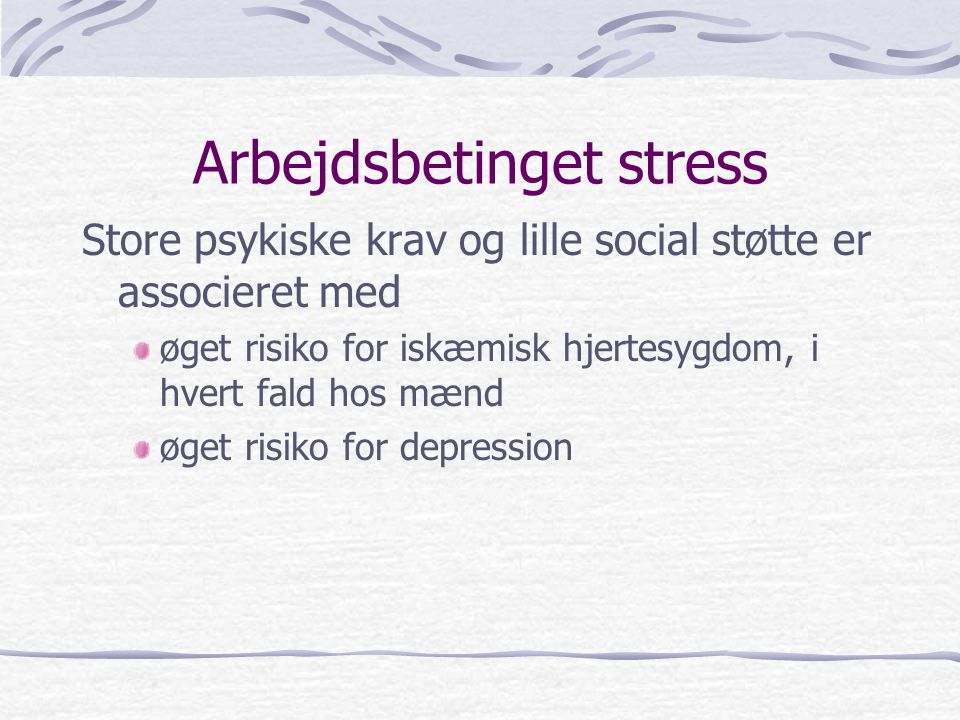Arbejdsbetinget stress