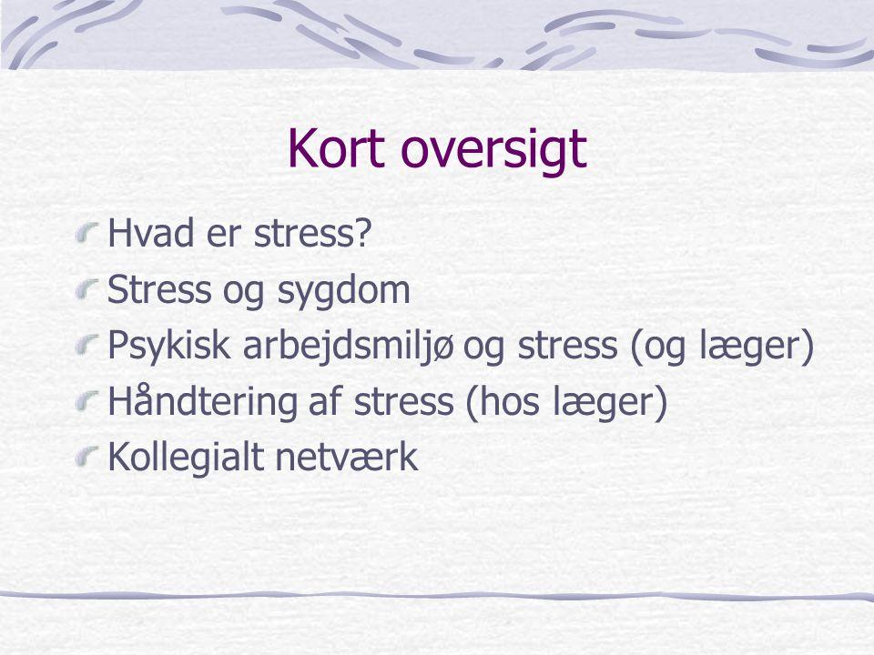 Kort oversigt Hvad er stress Stress og sygdom