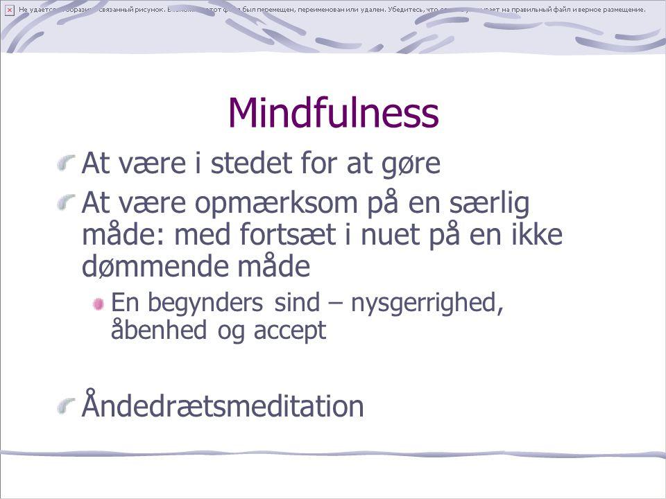 Mindfulness At være i stedet for at gøre