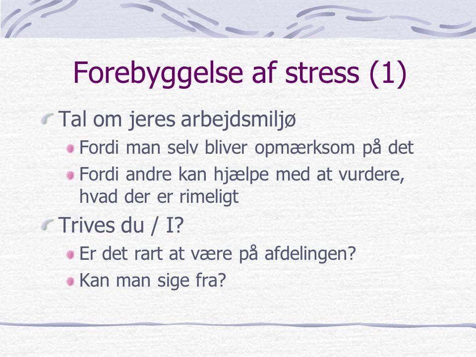 Forebyggelse af stress (1)