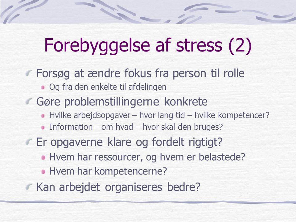 Forebyggelse af stress (2)