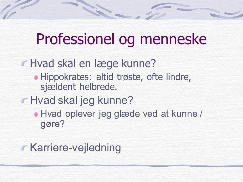 Professionel og menneske