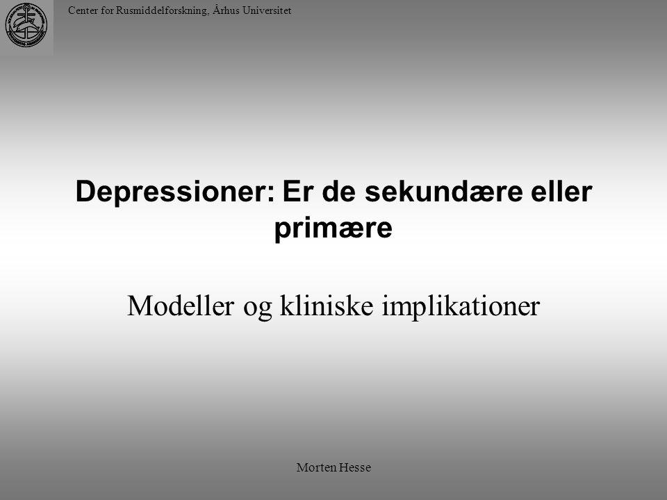 Depressioner: Er de sekundære eller primære