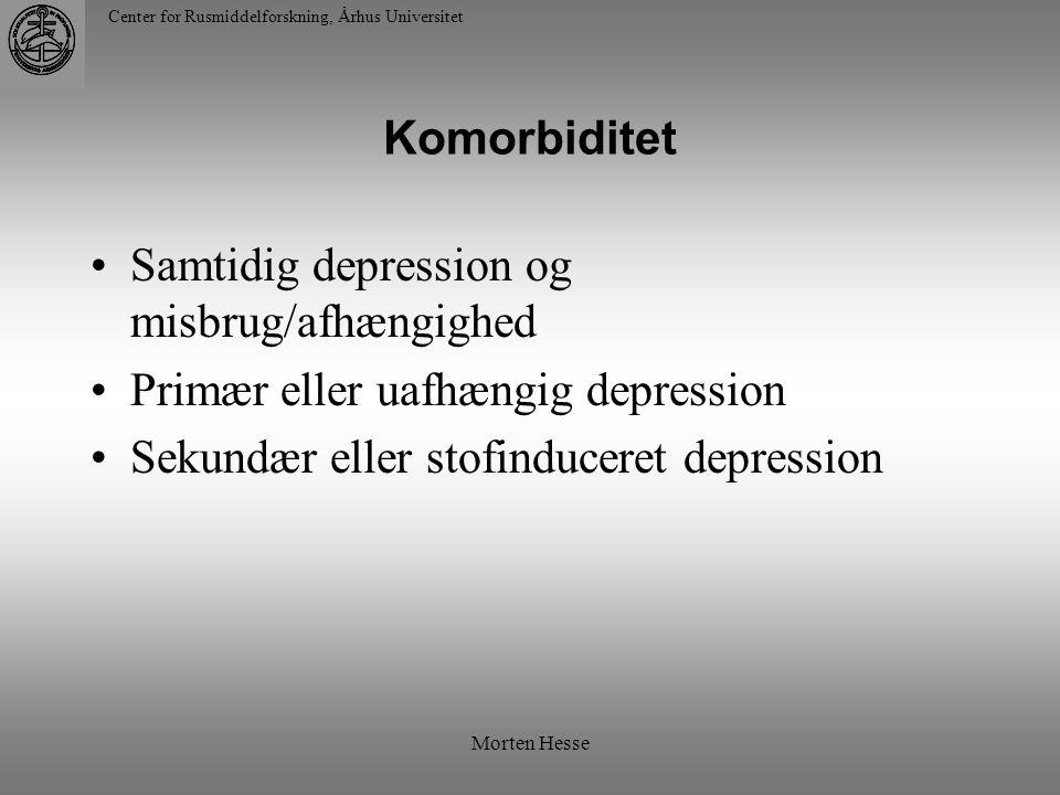 Samtidig depression og misbrug/afhængighed