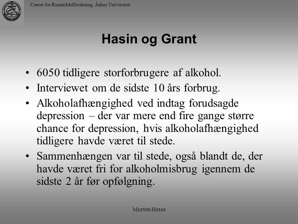 Hasin og Grant 6050 tidligere storforbrugere af alkohol.
