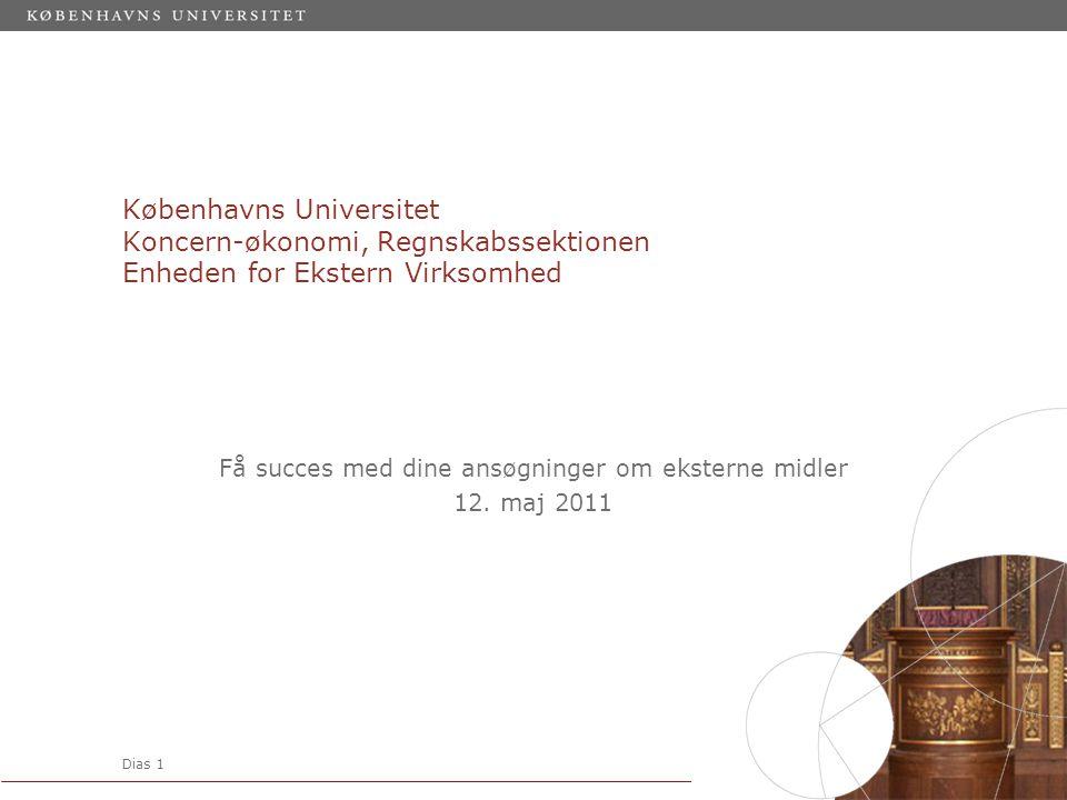Få succes med dine ansøgninger om eksterne midler 12. maj 2011