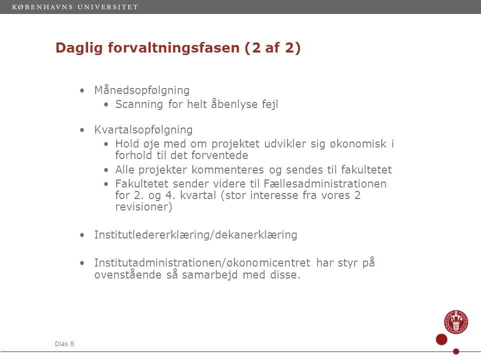 Daglig forvaltningsfasen (2 af 2)