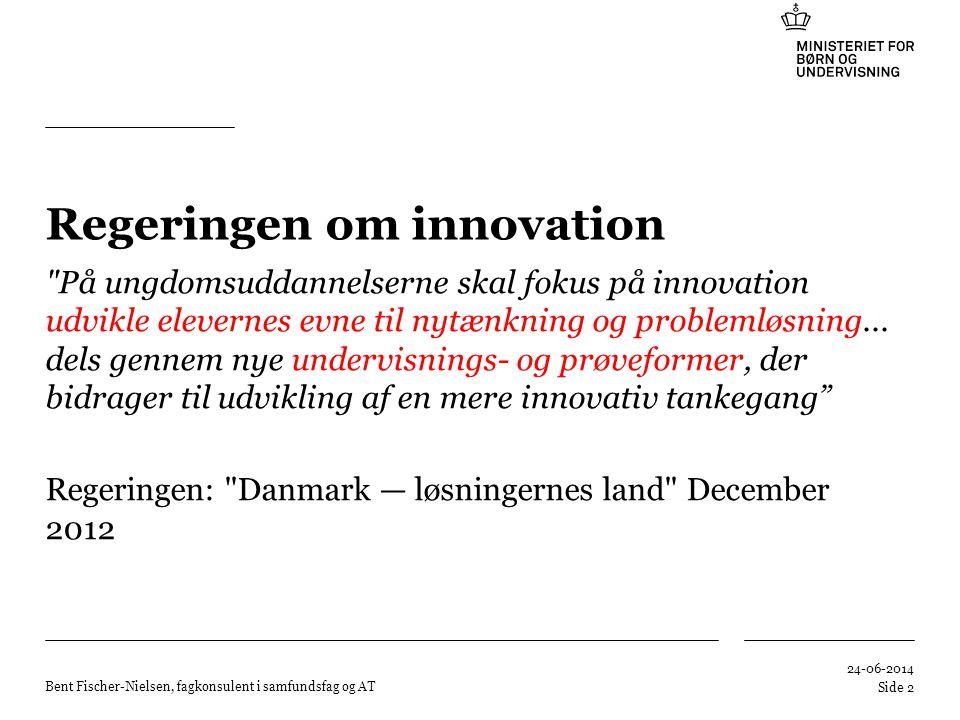 Regeringen om innovation