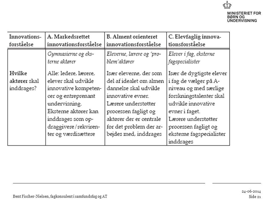 Bent Fischer-Nielsen, fagkonsulent i samfundsfag og AT