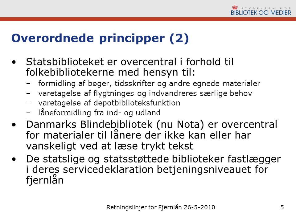 Overordnede principper (2)