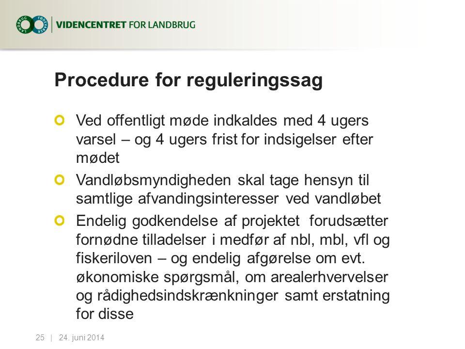 Procedure for reguleringssag