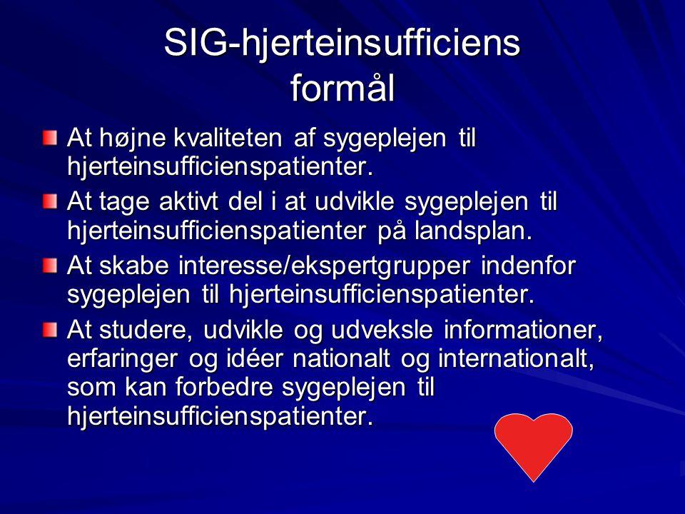 SIG-hjerteinsufficiens formål
