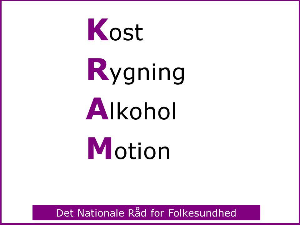 Kost Rygning Alkohol Motion