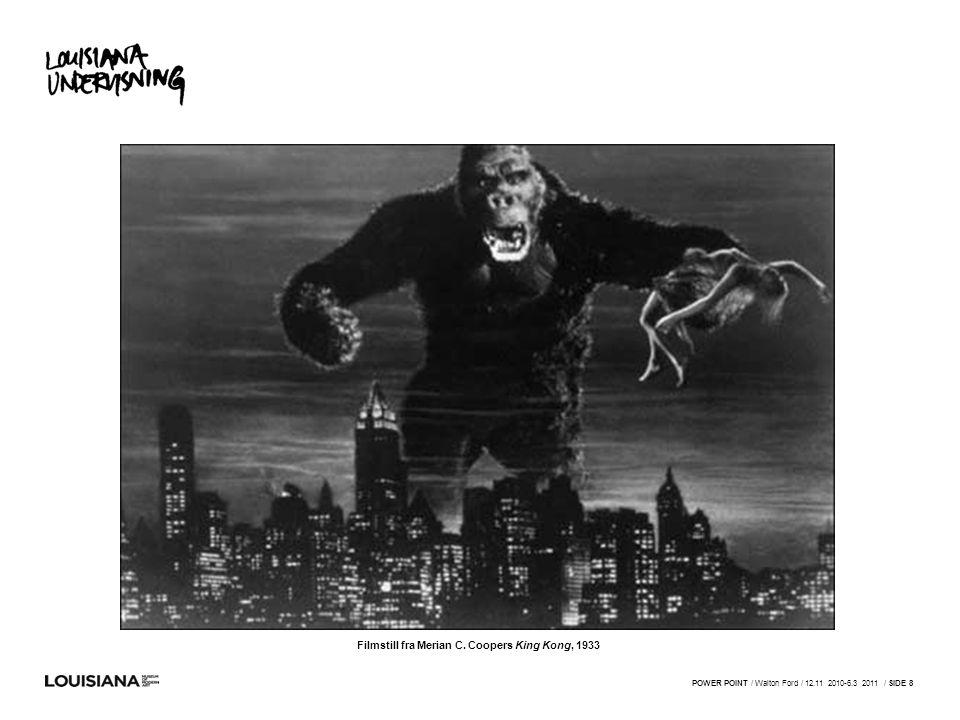 Filmstill fra Merian C. Coopers King Kong, 1933