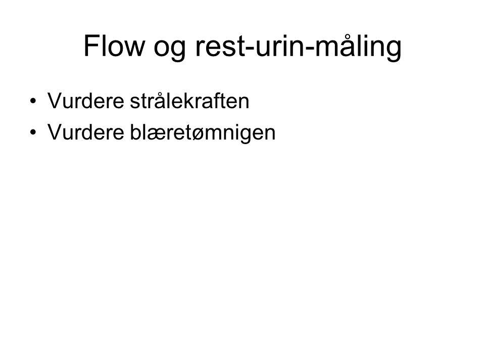 Flow og rest-urin-måling