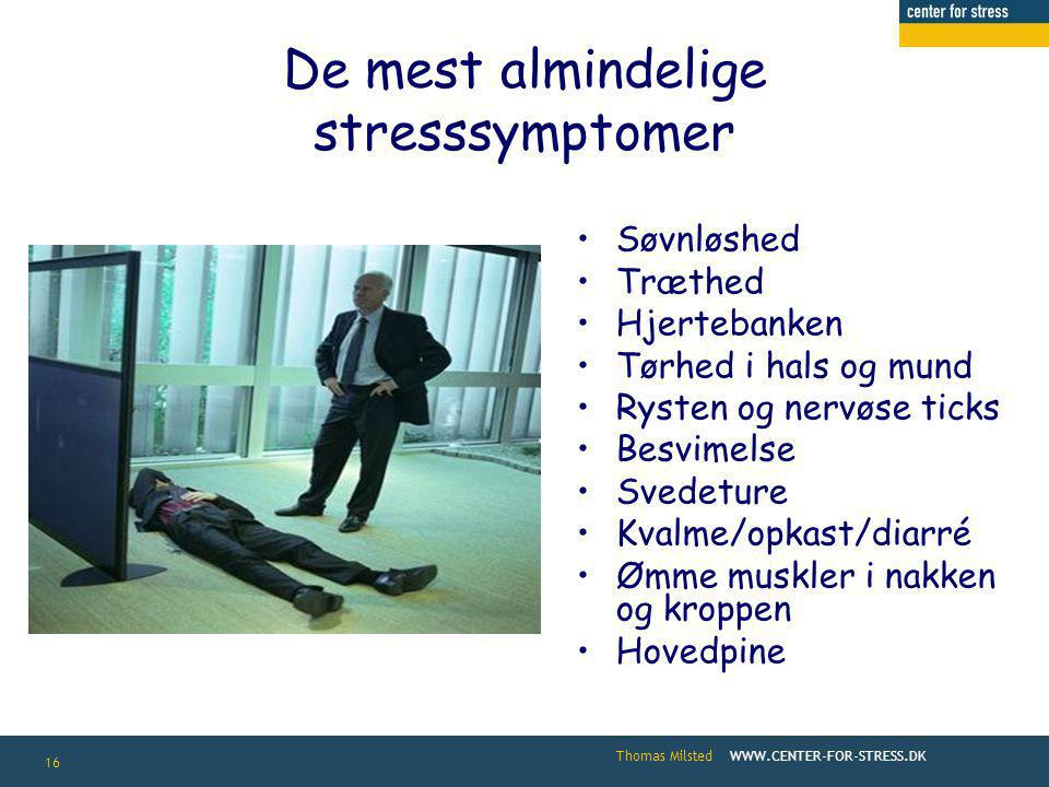 Center for Stress A/S Thomas Milsted - ppt video online download