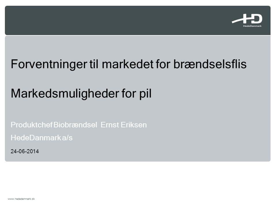 Forventninger til markedet for brændselsflis Markedsmuligheder for pil