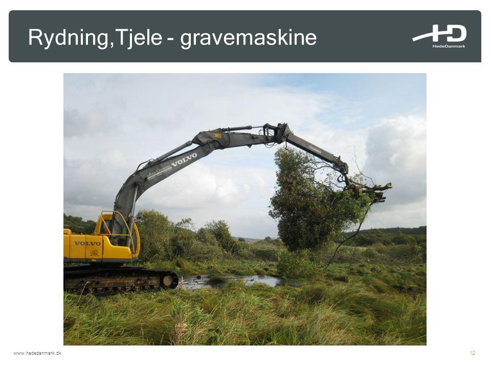 Rydning,Tjele - gravemaskine