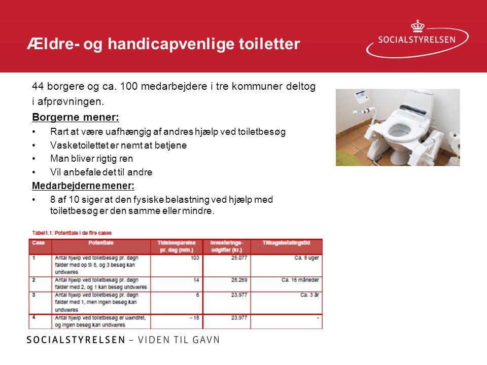 Ældre- og handicapvenlige toiletter