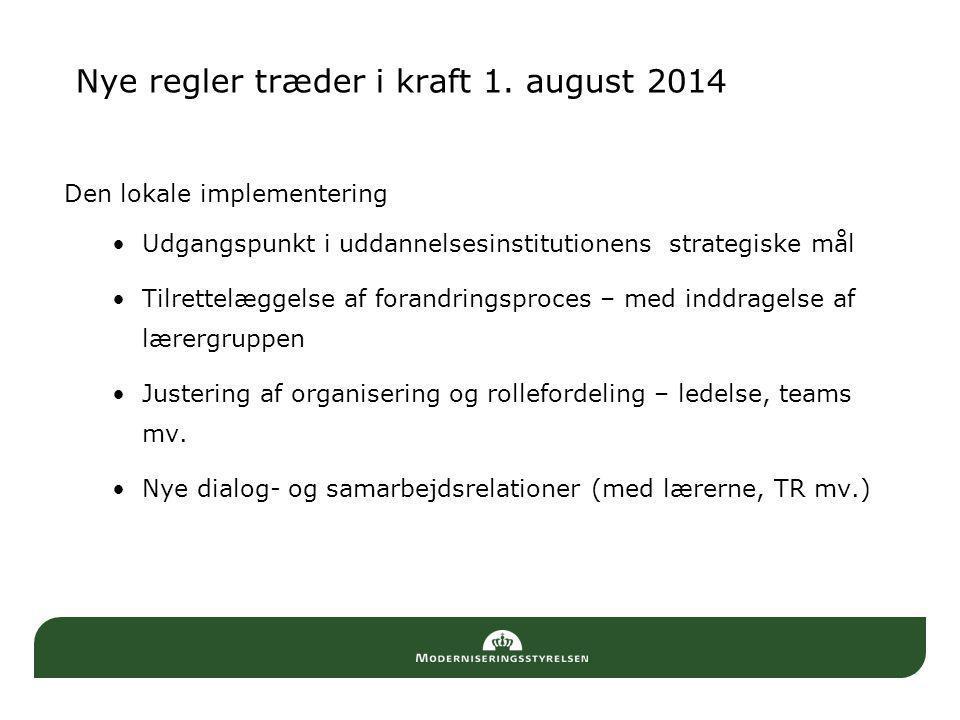 Nye regler træder i kraft 1. august 2014