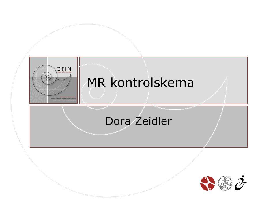 MR kontrolskema Dora Zeidler
