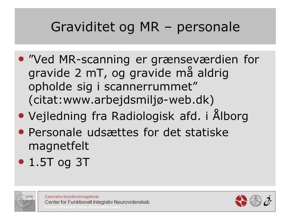 Graviditet og MR – personale
