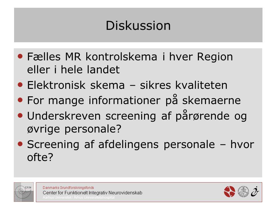 Diskussion Fælles MR kontrolskema i hver Region eller i hele landet