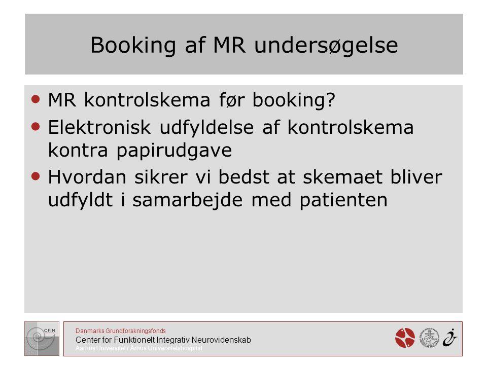 Booking af MR undersøgelse