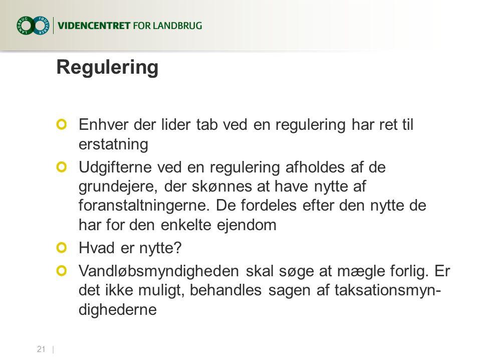 Regulering Enhver der lider tab ved en regulering har ret til erstatning.